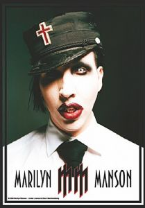 Marilyn Manson  Uniform  large fabric poster / flag 1100mm x 750mm (hr)